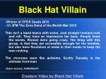 black hat villain