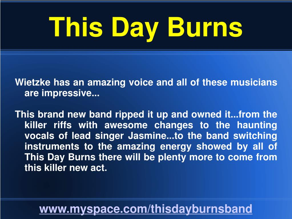 This Day Burns