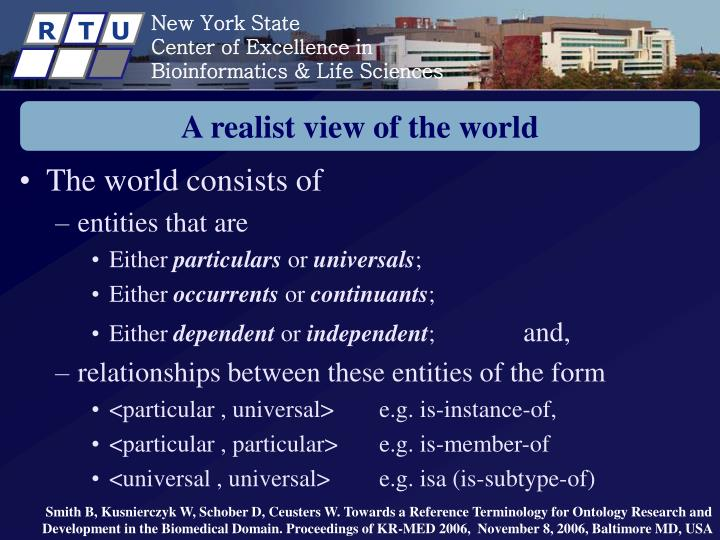 A realist view of the world