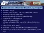 each word came with several definitions e g suspect