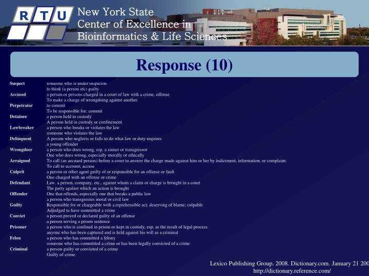 Response (10)