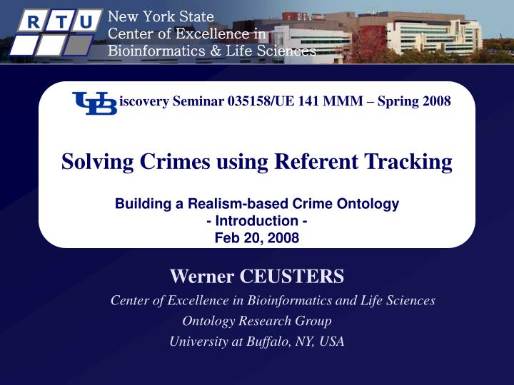 Discovery Seminar 035158/UE 141 MMM – Spring 2008