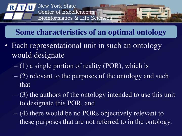 Some characteristics of an optimal