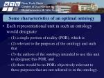 some characteristics of an optimal ontology