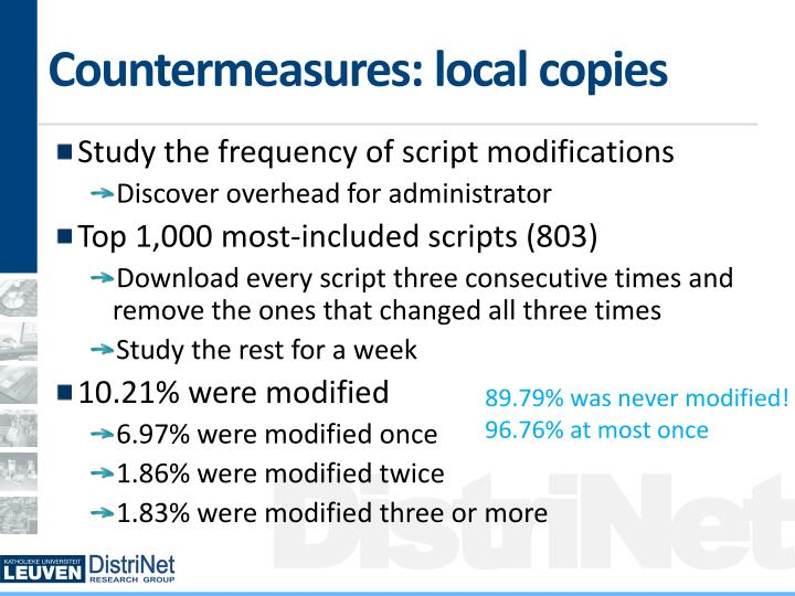 Countermeasures: local