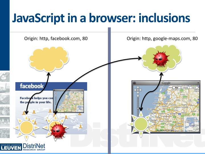 JavaScript in a browser: inclusions