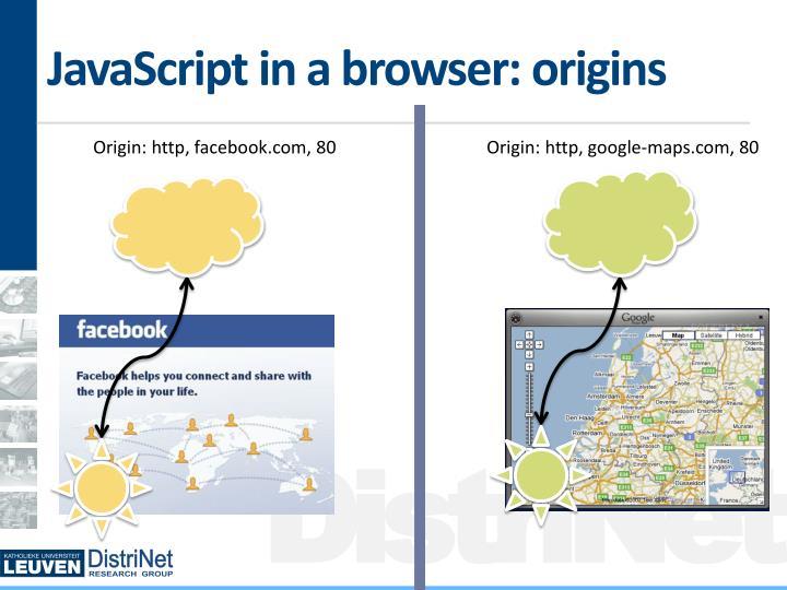 JavaScript in a browser: origins
