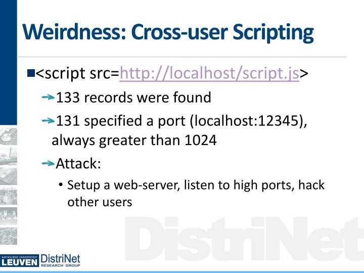 Weirdness: Cross-user