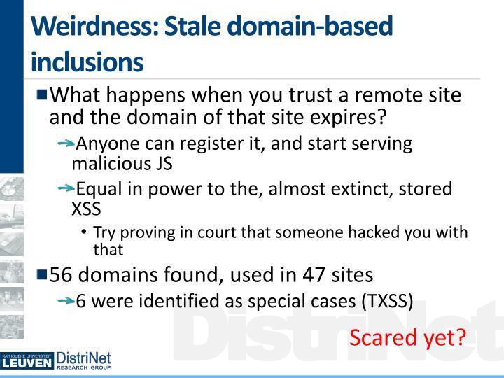 Weirdness: Stale