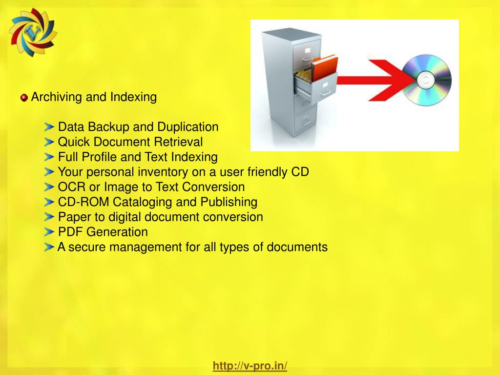 Archiving and Indexing