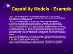 capability models example