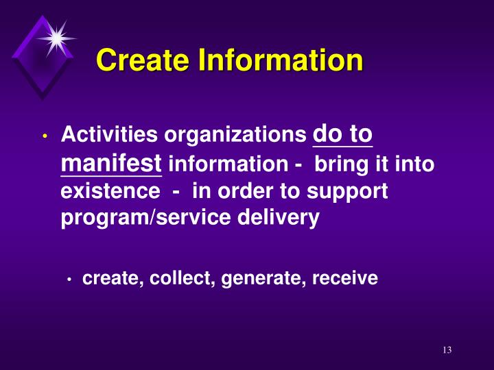 Create Information