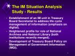 the im situation analysis study results