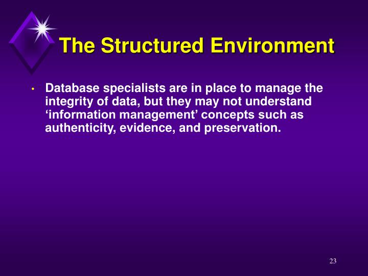 The Structured Environment