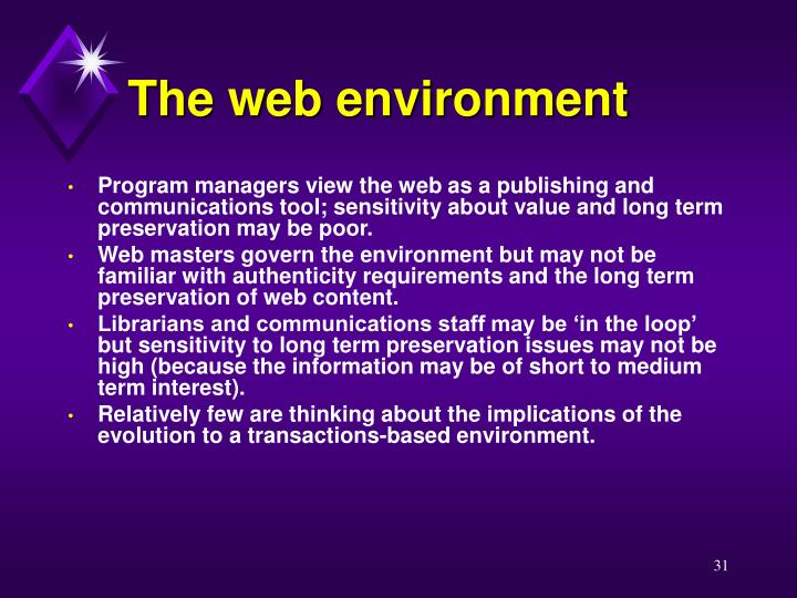 The web environment