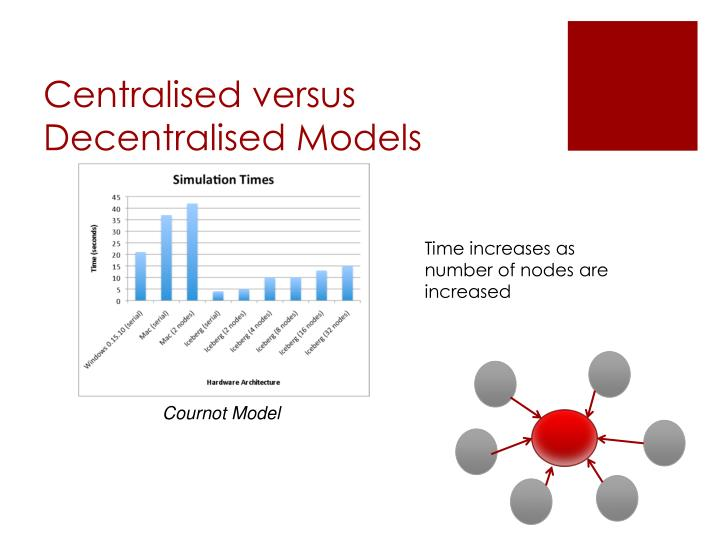 Centralised versus Decentralised Models