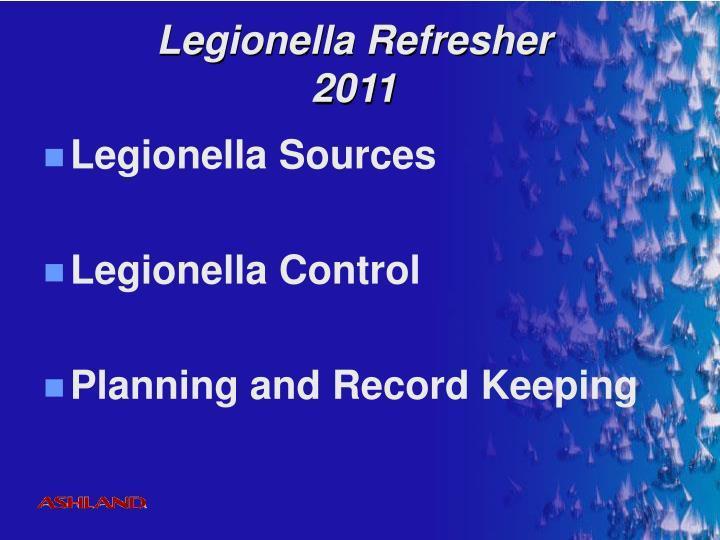 Legionella Refresher