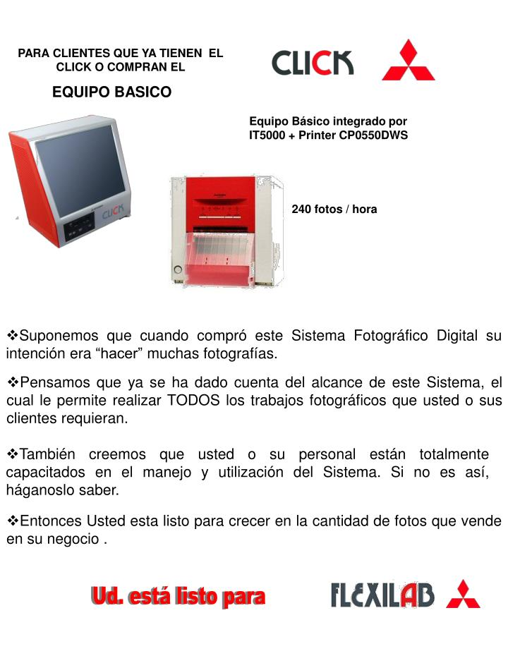 Equipo Básico integrado por IT5000 + Printer CP0550DWS