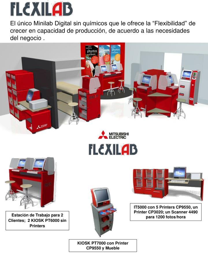 """El único Minilab Digital sin químicos que le ofrece la """"Flexibilidad"""" de crecer en capacidad de producción, de acuerdo a las necesidades del negocio ."""