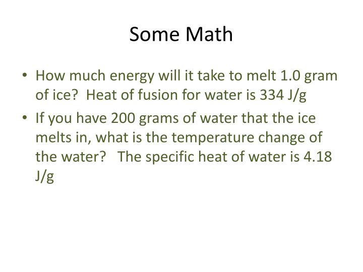 Some Math