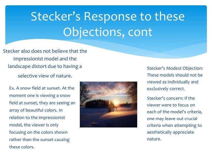 Stecker's Response to these Objections, cont
