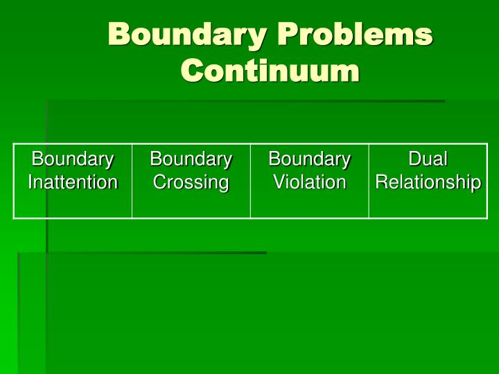 Boundary Problems Continuum