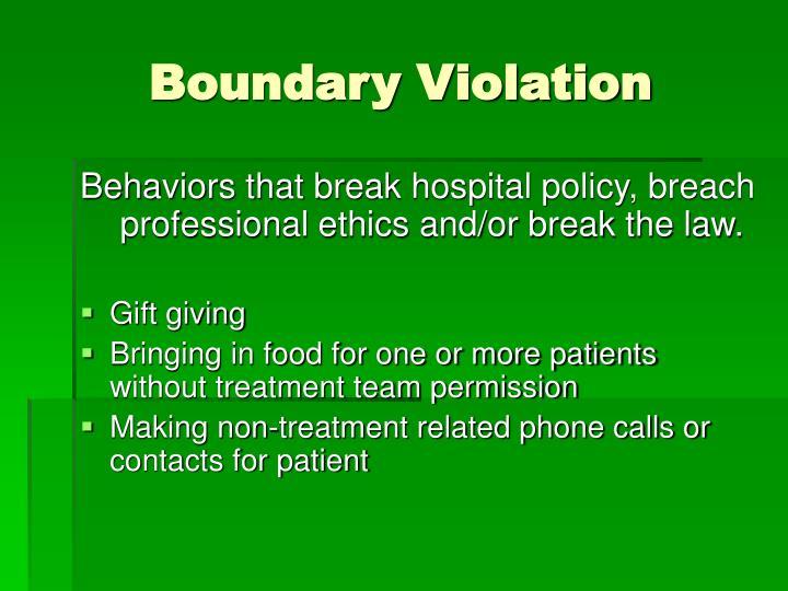 Boundary Violation