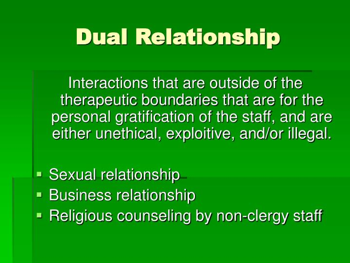 Dual Relationship