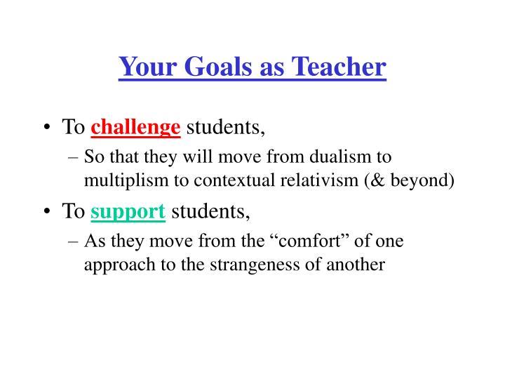 Your Goals as Teacher