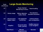 large scale monitoring