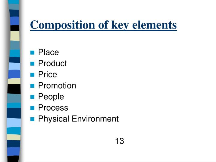 Composition of key elements