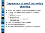 importance of retail marketing planning