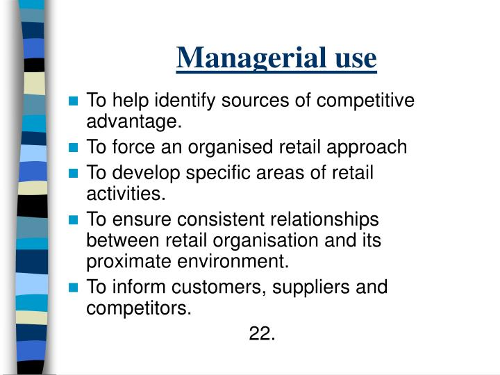 Managerial use