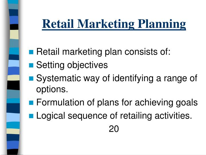 Retail Marketing Planning