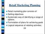 retail marketing planning