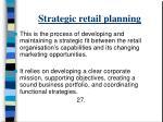 strategic retail planning