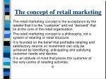 the concept of retail marketing