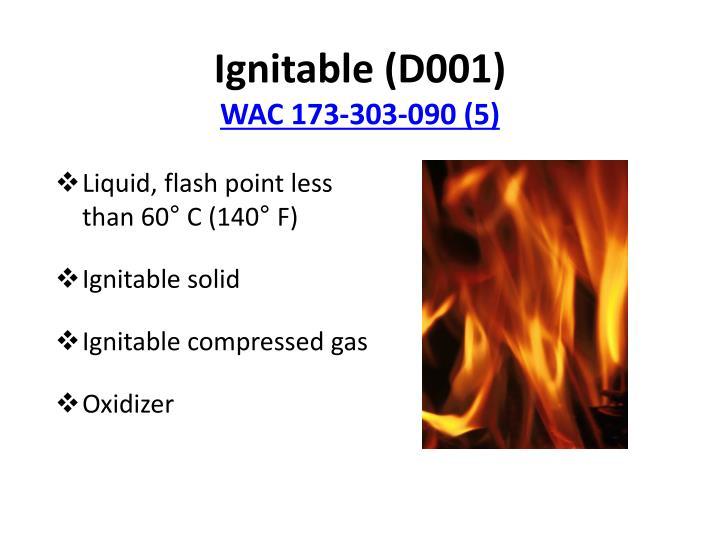 Ignitable (D001)