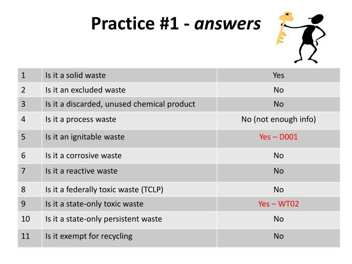 Practice #1 -