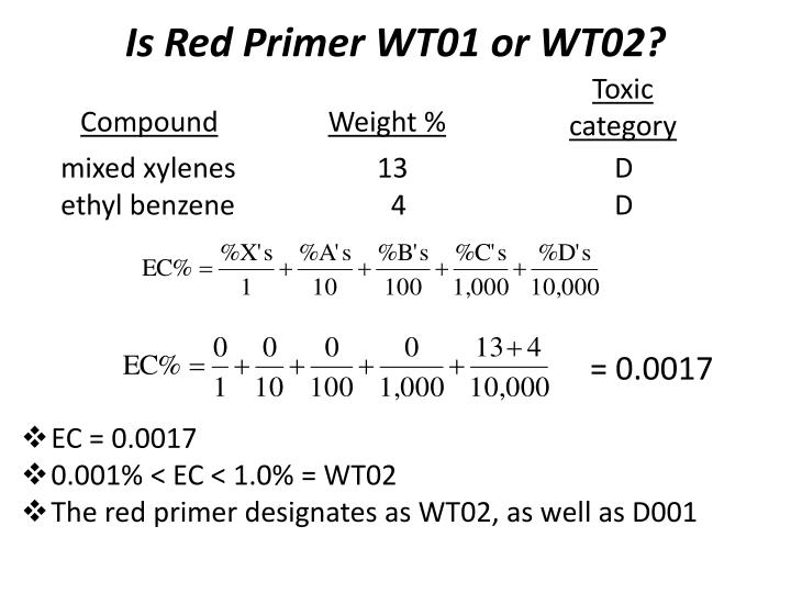 Is Red Primer WT01 or WT02?