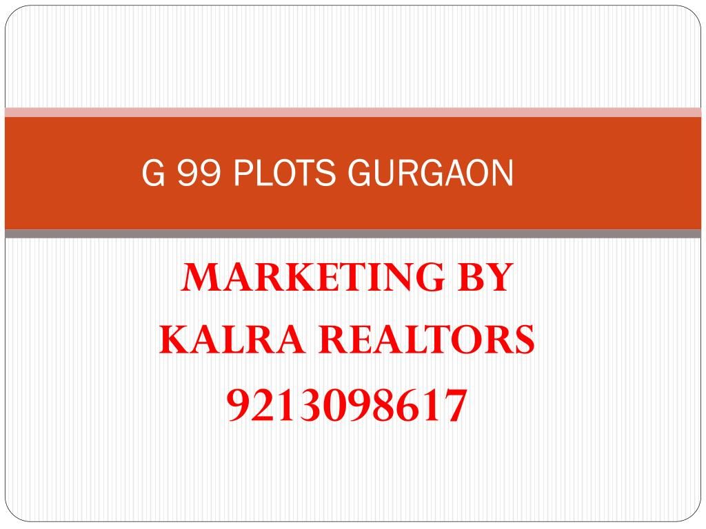 G 99 PLOTS GURGAON