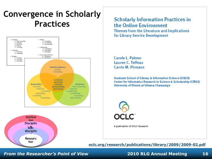 Convergence in Scholarly Practices