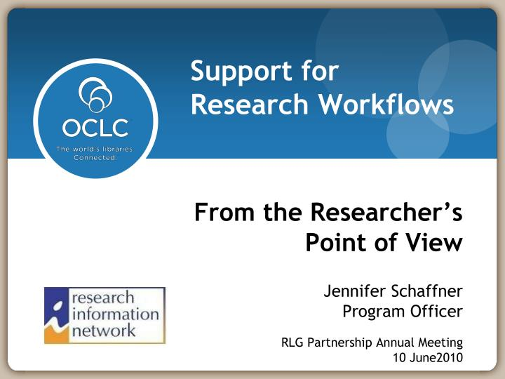 From the Researcher's