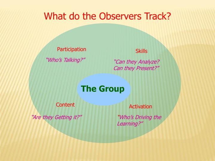 What do the Observers Track?