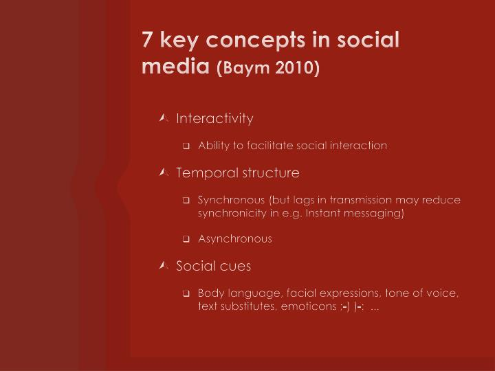 7 key concepts in social media