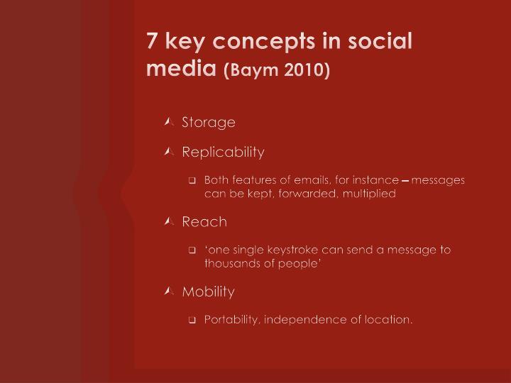 7 key concepts in social media