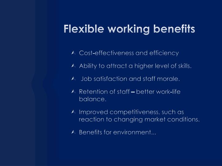 Flexible working benefits