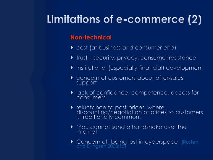 Limitations of e-commerce (2)
