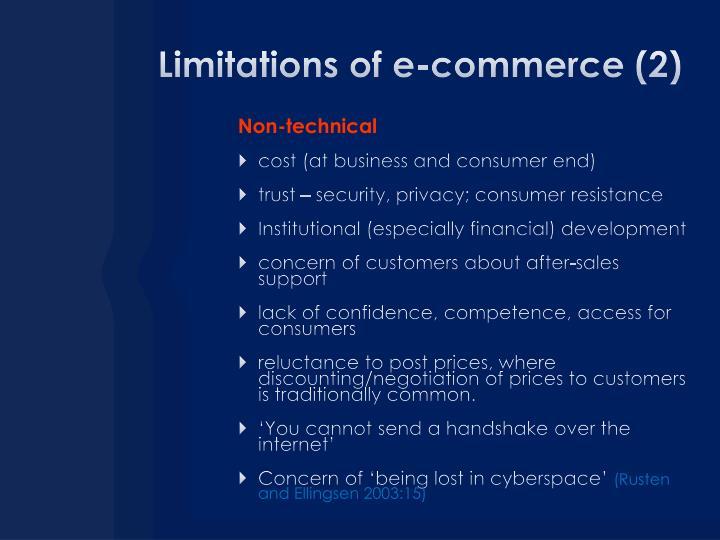 Limitations of e-commerce (2)
