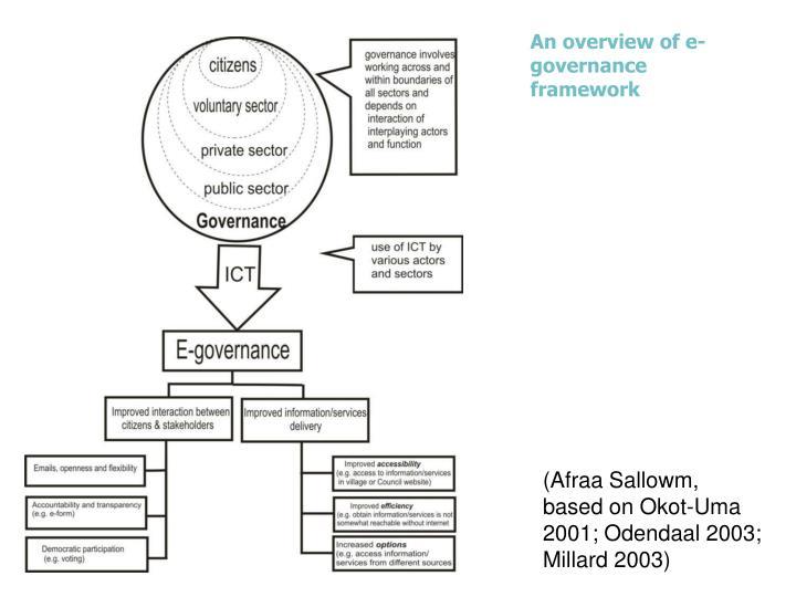 An overview of e-governance framework